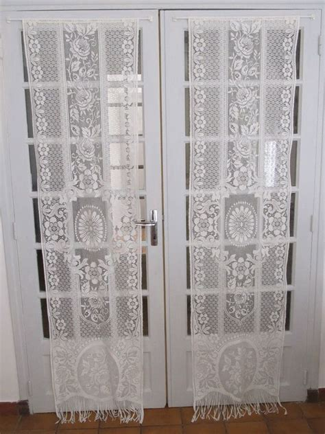 ivory door lace curtains lace panels lace