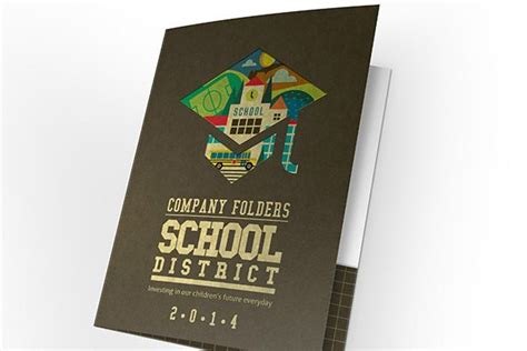 school district pocket folder design template  psd