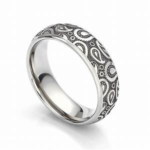 introducing the paisley wedding ring unique titanium With paisley wedding ring