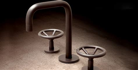 industrial chic brass faucets  watermark designs captivatist