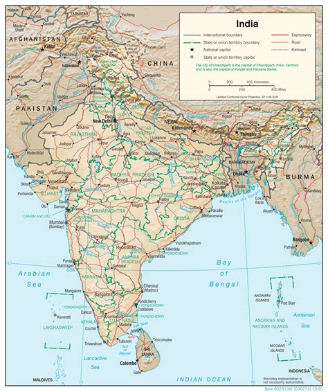india relief map maps  india