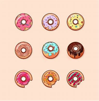 Donut Stickers Printable Donuts Paper Baking Icon