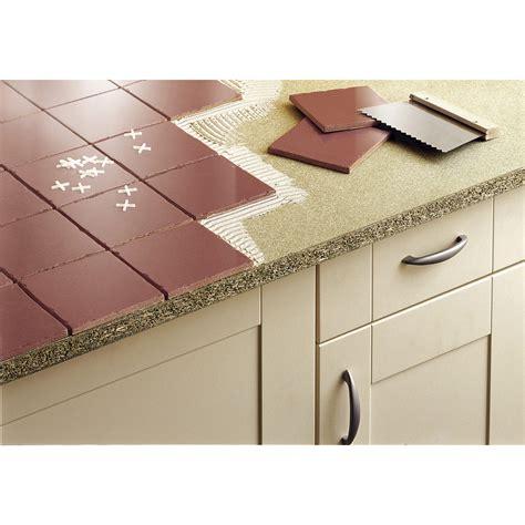 fixer plan de travail cuisine plan de travail aggloméré à carreler mat l 185 x p 63 cm