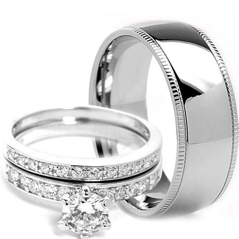 mens milgrain titanium band womens sterling silver