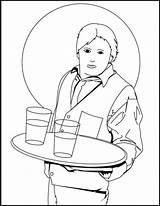 Waiter Waitress Coloringpagesfortoddlers Disimpan Dari Gambar sketch template