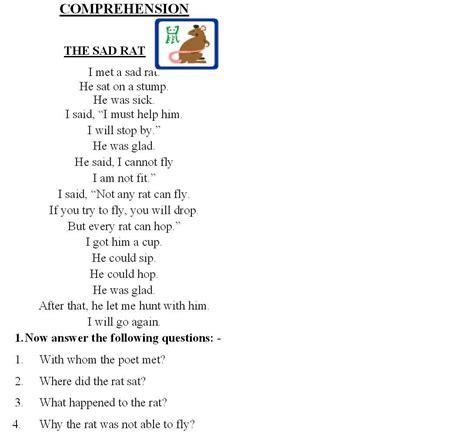 comprehension worksheets for grade 2 www