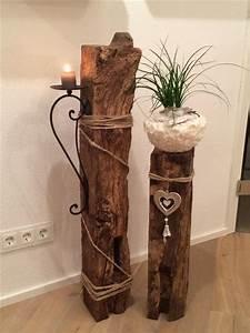 Deko Ideen Aus Holz : s ulen mit pflanzk beln sind echte blickf nger f r ihr ~ Lizthompson.info Haus und Dekorationen