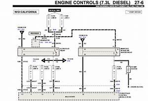 2000 Ford F450  Glow Plug Relay Wiring Harness  7 3 Diesel