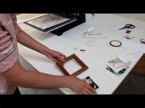 wooden frame  ceramic tile sublimation transfer craft