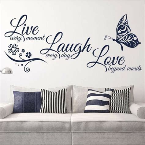 love quotes butterfly wall stickers art room decal