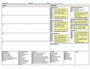 common core weekly lesson plan template includes With lesson plan template using common core standards