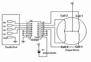 get amazed driving stepper motor using uln2003 With controller wiring diagram further 4 wire stepper motor control on nes