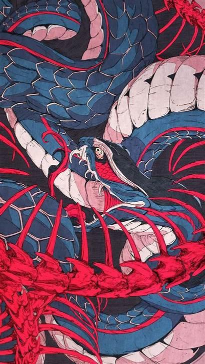 Aesthetic Phone Snake Samurai Japanese Wallpapers Anime