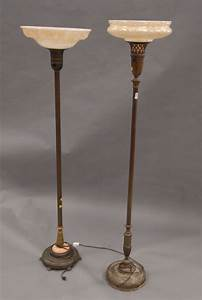 floor lamps parts on two vintage floor lamps with indirect With antique torchiere floor lamp parts