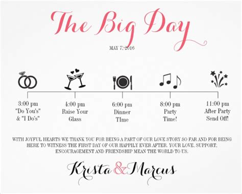 wedding day itinerary template 44 wedding itinerary templates doc pdf psd free premium templates