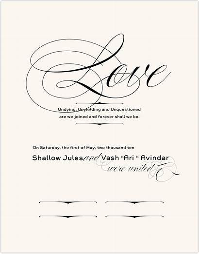 Poem Certificate Marriage Vows Certificates Verse Document