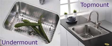 undermount sink vs top mount which kitchen sink basin is right for you