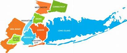 Island York Painting Map Manhattan Westchester Brooklyn