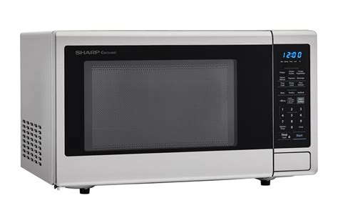 sharp smc1842cs 1 8 cu ft stainless steel countertop microwave