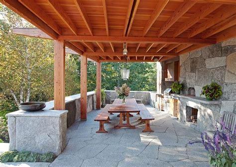 Rustic Outdoor Kitchen  Camden, Maine Contemporary