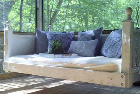 porch bed swing shabby chic day bed porch swing by customrustics1 on etsy