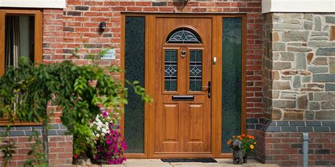 upvc windows doors  golden oak woodgrain effect