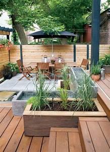 les 25 meilleures idees de la categorie terrasse beton en With delightful idee amenagement jardin de ville 15 bordures bois