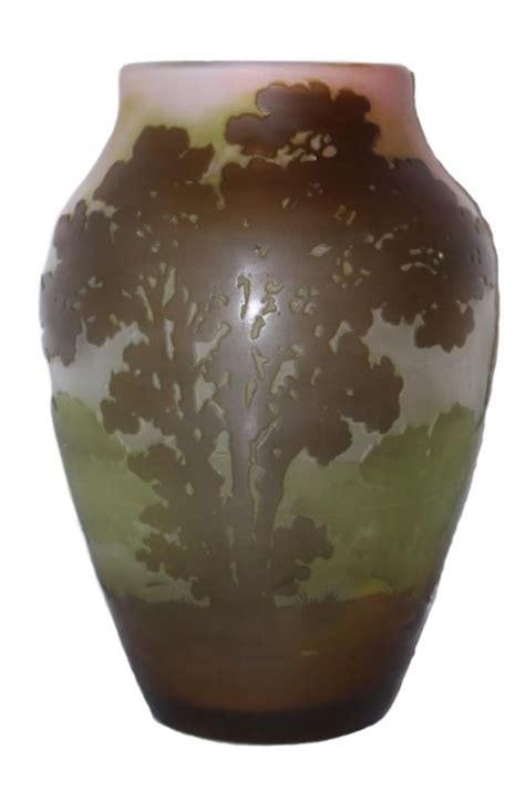 Antique Coloured Glass Vases by Original Antique Galle Multi Colored Glass Vase