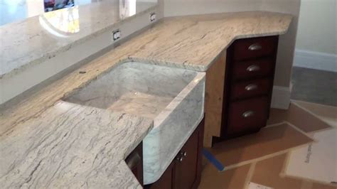 custom made in maine snow valley white granite countertop