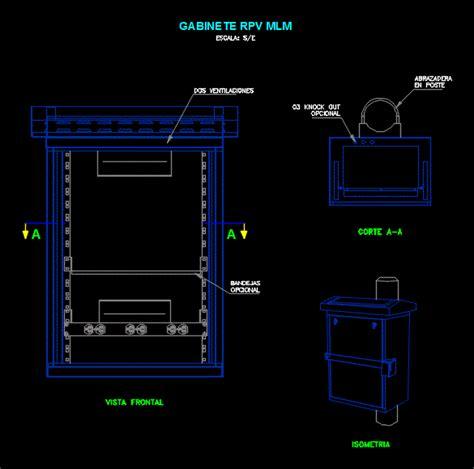 cabinet cabinet cctv dwg block  autocad designs cad