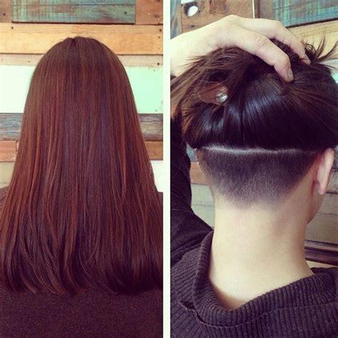 undercut ponytail design