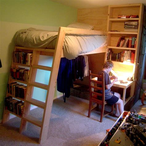 Loft Bed by Loft Beds With Bookshelf Ladders