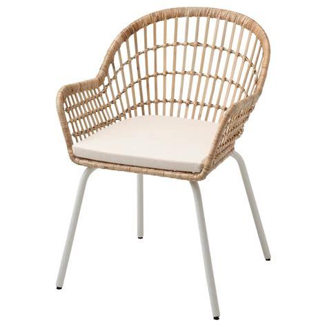 nilsove norna stol med stoldyna rotting vit laila
