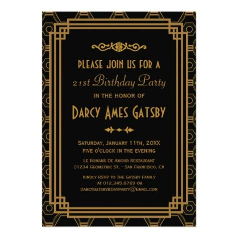roaring twenties invitation template personalized roaring 20s invitations custominvitations4u