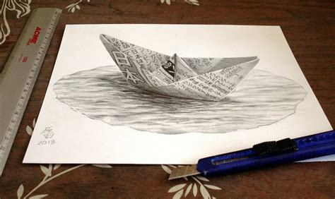 How To Draw A 3d Boat On Paper by 27 3d Pencil Drawings Ideas Design Trends
