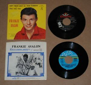 "foto de FRANKIE AVALON Lot of Two 7"" 45s & PICTURE SLEEVES Beauty"