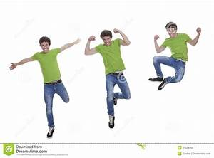 Smiling teen jumping stock photo. Image of action ...