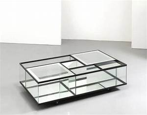 crystal and mirrored glass coffee table by gallotti and With crystal glass coffee table