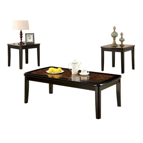 marble top coffee table set benoit coffee table set with faux marble top home
