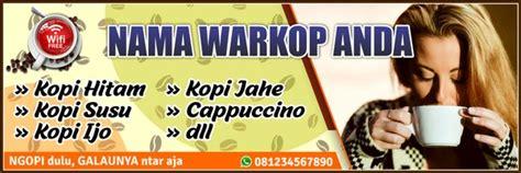 Contoh Spanduk Warkop desain spanduk keren