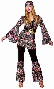 Peace Hippie Ladies Costume 1960s Groovy Retro Womens 60s ...