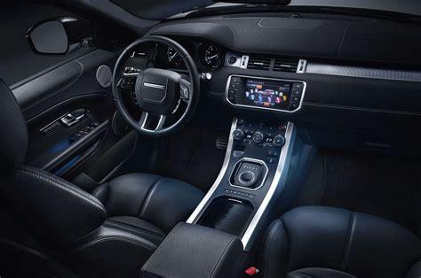 evoque land rover interior 2016 range rover evoque shows off new look diesel engine