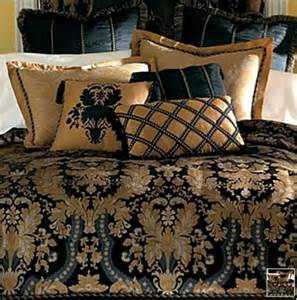 new classic royal black gold luxurious comforter set king ebay