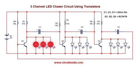 Simple Led Flasher Circuit Using Transistors