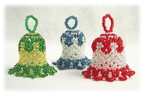 Beaded Christmas Bell Ornament Pattern