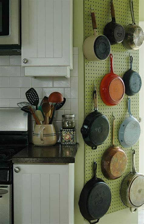 Küche Aufbewahrung Wand by T 246 Pfe Und Pfannen 25 Coole Ideen F 252 R Die H 228 Ngende