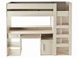 Lit Mezzanine 2 Places Avec Bureau : lit mezzanine 90x200 cm montana vente de lit enfant ~ Melissatoandfro.com Idées de Décoration