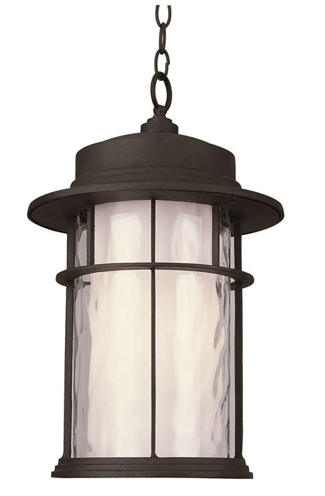 craftsman style hanging outdoor light trans globe lighting 5295 bk craftsman transitional