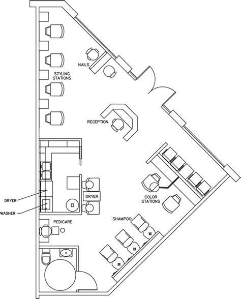 salon floor plan design layout 890 square foot