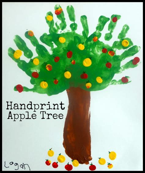 handprint apple tree fall project for she 893 | XXXXXXXXX